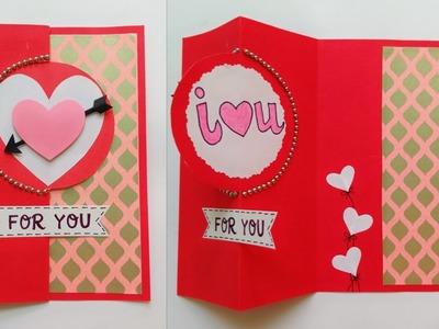 Valentine Card.Handmade Valentine Card.How to make Valentine Card.Greeting Card for Valentine Day