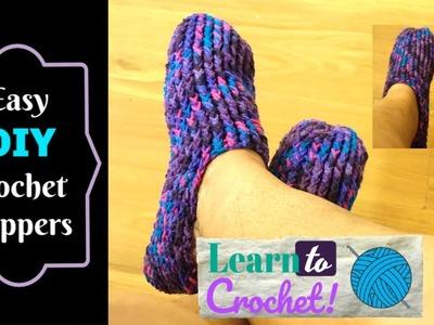 Beginner Friendly: Crochet Slipper for ALL Sizes! | ❤LifeWithLisa343???? | How to Crochet