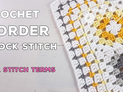 Block Stitch Crochet Border - easy, simple and quick!
