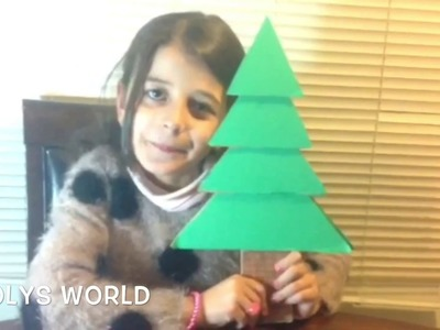 Christmas tree so easy to make with cardboard by Looly ^__^