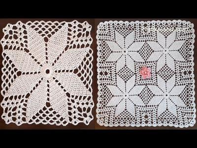 CROCHET Flower Motif Pattern PART 6, Border 3   4 round