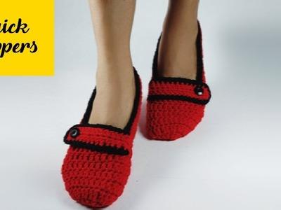 Crochet Slippers For Beginners