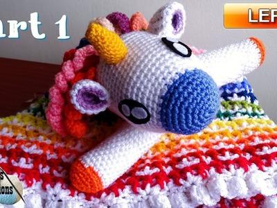 Crochet Unicorn Lovey - CAL Part 1 - Left Handed Crochet Tutorial