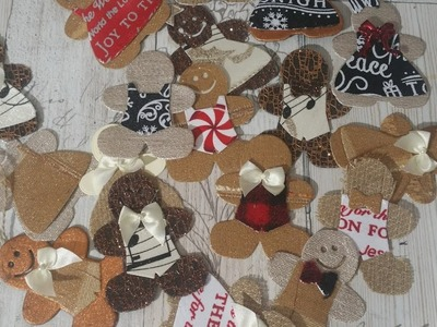 Cute on Cute gingerbread tags, adornments or embellishments: Stamps of life: Gingerbread 2 Stamp