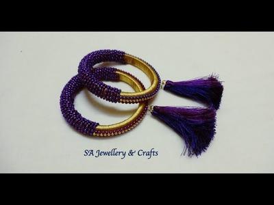 DIY Designer Bangle | How to do Silk thread designer Bangle at home