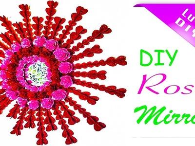 DIY Mirror Using Hearts | DIY mirror using roses | DIY Mirror Decor