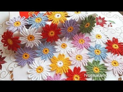 DIY Tutorial EASY Crochet flower PART 2  How to join motifs
