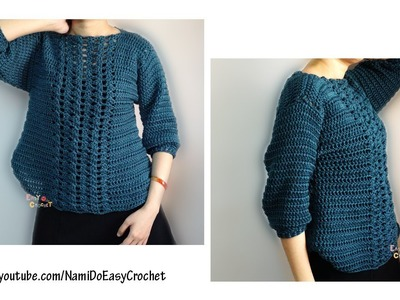Easy Crochet: Crochet Sweater #21