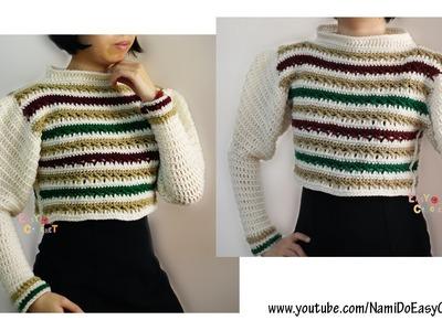 Easy Crochet: Crochet Sweater (Crop top) #20