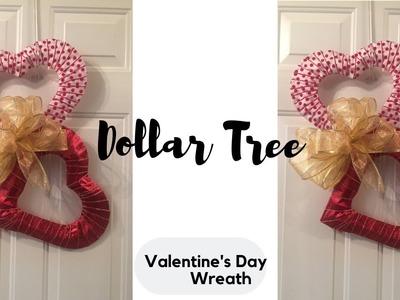 Easy & Inexpensive Heart Wreath Dollar Tree