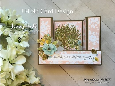Easy U Fold Card tutorial using Stampin Up products with Jenny Hall
