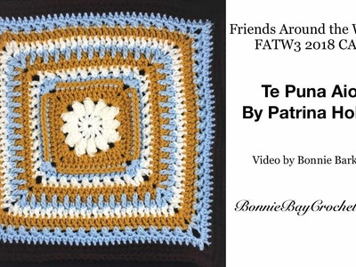 FATW3 2018 CAL Friends Around the World, Square #: Te Puna Aio, by Patrina Hollis