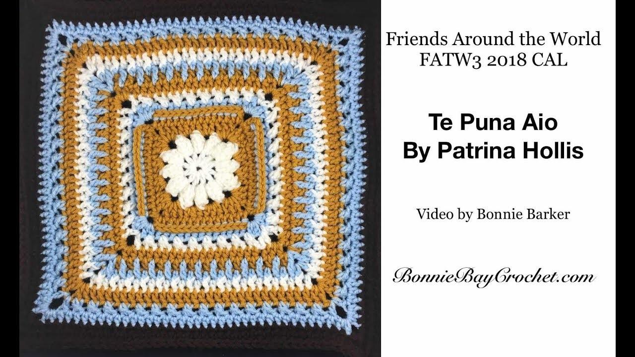 FATW3 2018 CAL Friends Around the World, Square #: Te Puna Aio, by Patrina Hollis