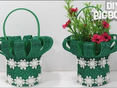 Flower basket making with foam sheet is very easy | DBB