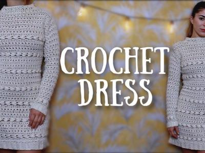 How to Crochet a Dress | Sweater Dress | Tutorial