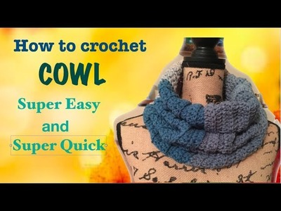 How to crochet a simple COWL