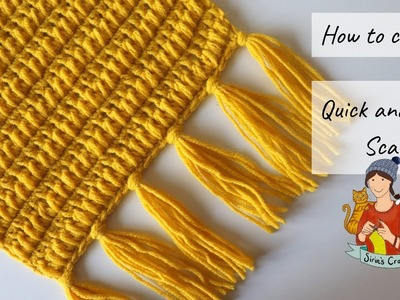 How To Crochet Quick And Easy Scarf