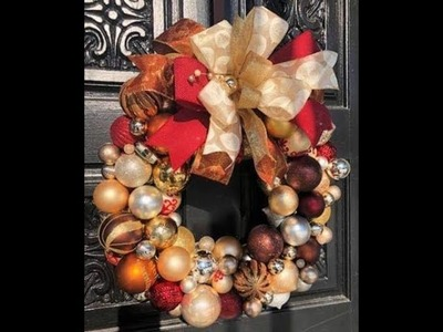 How to make a Ornament wreath with Ornaments and a Hanger