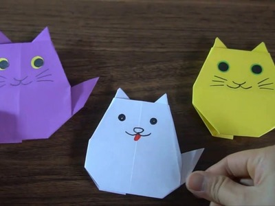 How To Make An Origami  Cat ||  paper craft art