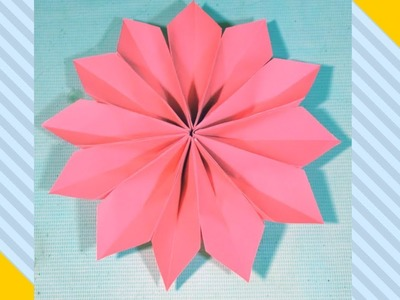 How to make Easy Origami Flower tutorial.Diy paper crafts