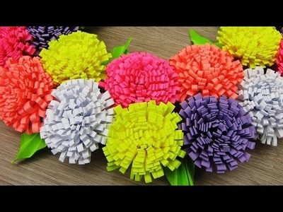 How to Make Flower with Colored Paper | Making Paper Flowers Step by Step