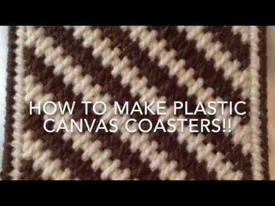 How to make plastic canvas coasters