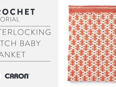 Interlocking Crochet Tutorial & Mosaic Stitch Baby Blanket Pattern
