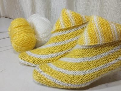 Knitting socks with easy method
