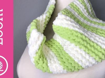 Loom Knit Garter Stitch Cowl