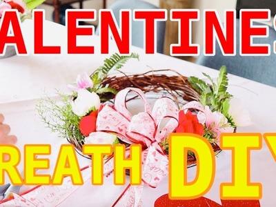 Making A Dollar Tree Valentines Wreath. Budget Decor Ideas (2019)