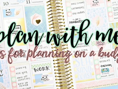 Plan With Me - Tips for planning on a budget