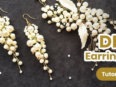Simple and Beautiful EARRINGS. How to Make Wedding Pearl Jewelry. DIY Craft Idea