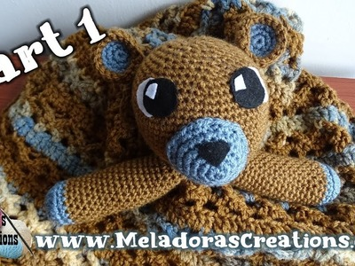 Teddy Bear Lovey Part 1 - Right Handed Crochet Tutorial