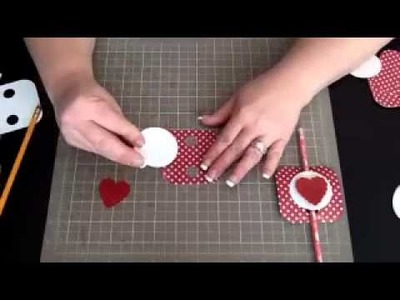 The Craftin' Geek {St. Valentine's Day Pencil topper}