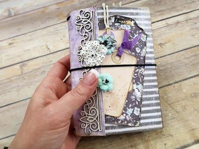 Travelers Notebook Covers ~Wanderlust~Flirty Fleur~#1 by jenofeve designs