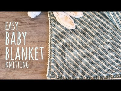 Tutorial Easy Knitting Baby Blanket for Beginners | Lanas y Ovillos in English