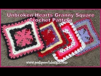 Unbroken Hearts Granny Square Crochet Pattern
