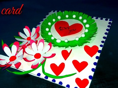 Valentine greeting card handmade | diy greeting card | latest card design | greeting card | cards