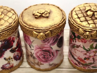 # 5 DIY decor | Recycled plastic cans |Decoupage of  Cans