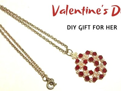5 mins craft. DIY gift. Beginner beading tutorial. Beaded Necklace