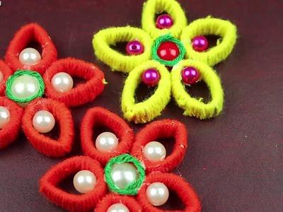 Amazing Woolen Craft Idea - How to Make Beautiful Door Hanging Toran For Home Decor -arts and crafts