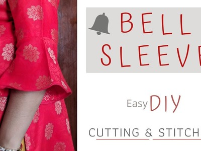 Bell Sleeve ! Easy Bell Sleeve Design Cutting and Stitching | step by step mathod