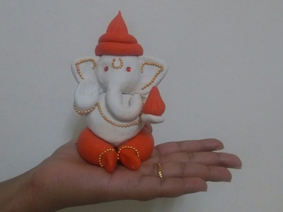 Clay Ganesha Making at Home | Easy Clay Ganpati for kids with Jewellery
