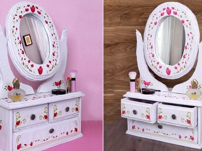 DIY Dressing Table !! Making at Home - Organizer Handmade
