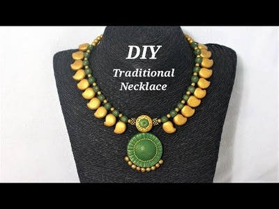 DIY   Easy To Make Polymer Clay Traditional  Necklace | Jewelry Making Tutorial