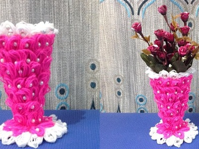 DIY Flower vase making. How to make flower vase out of wool