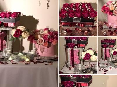 DIY- Rose Box  DIY- Rose Bear DIY- valentine's day decor DIY- Romantic dinner setting