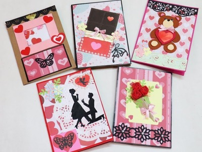 DIY Valentine's Day Card. 5 Cards For Valentine Week.Rose Day.Teddy day.chocolate day.Propose Day
