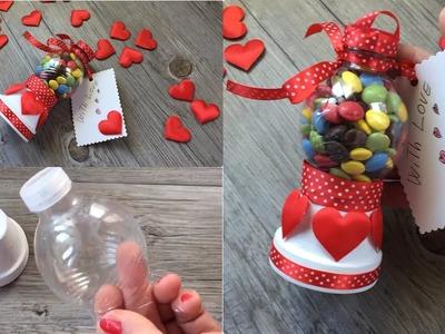 Easy DIY for San Valentine day tutorial facilissimo con riciclo bottiglia di plastica