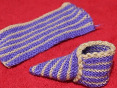 Easy to make two color baby Shoes.Booties